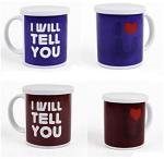 Quality Heat Sensitive Reusable Coffee Cup Custom Magic Mug White AB Grade for sale