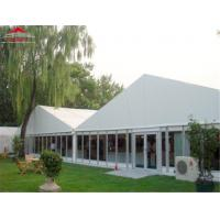 China Fire Safety Economical Garden Marquee Tent Double PVC Fabric Material on sale