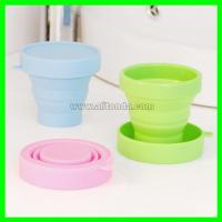 Quality Soft compressible and exquisite silicone sports cup for outdoor travel for sale