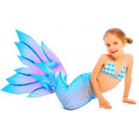 China Beauty Flower Fin Swimmable Mermaid Tails For Girls , High Elasticity Fabric Mermaid Tail on sale