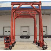 Quality Red Steel Standard Mobile Container Crane , Port Gantry Crane Container Handling Crane for sale