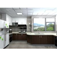 Best Modern Black / White Painting Wood Veneer Kitchen Cupboards Big Size For Home wholesale