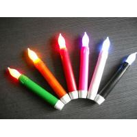 battery operated led pillar wax candle with false wick