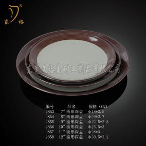 China Melamine Tableware brown plates set plastic plate (table ware dinner ware) on sale