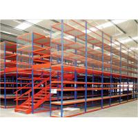 Best Multi Level Industrial Rack Supported Mezzanine Rack With Wire Mesh Guard wholesale