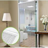 Quality Silver Aluminium Chain Link Curtain Fly Screen Strip Blinds Bug Blind Keeps out Flies Wasps Pest Insect & Bees, 90x215cm for sale