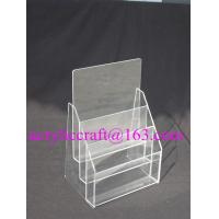 Quality Practical Multi-layered Custom Transparent Acrylic Paper / Poster Display Stand for sale