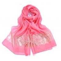 China 70x200cm fashion fancy lady handmade hooked beads silk scarf on sale