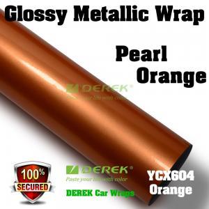 Quality Glossy Metallic Car Wrapping Film - Glossy Metallic Orange for sale