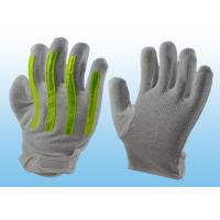 Quality Interlock Finger Reflective Gloves For Directing Traffic , Cotton Hand Gloves Velcro Type for sale