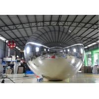Quality 2M Slivery Inflatable Mirror Ball , Large Helium Balloons For Advertising for sale
