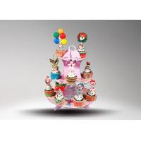 China Corrugated Cardboard Cup Cake Stand / Corrugated Paper Wedding Cake Stand on sale