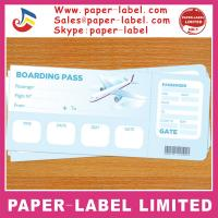 China pre printed airline boarding pass ticket thermal on sale