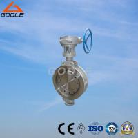 Quality 150lb/300lb Stainless Steel Gear Operated Wafer Type Butterfly Valve (GAD373W) for sale