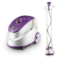 China Double Poles Wrinkle Remover Clothes Steamer Purple Color With 2.4 L Water Tank on sale