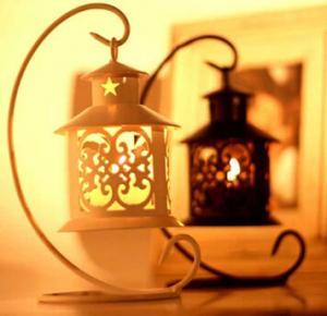 China iron-candle-holder Romantic wedding gift yard decor wedding light table lamp on sale
