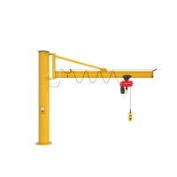 Quality Workshop Light Type 5 Ton Pillar Jib Crane With Electric Hoist for sale