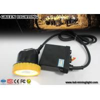 China 50000 Lux Strong Brightness Waterproof Rechargeable Led Hard Hat Light Hunting With Li - Ion Battery on sale