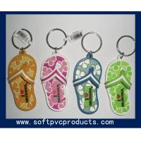 Quality Slippers Soft PVC / Rubber / Silicone Customized Key Chains 3D / 2D Fashion and Eco-friendly for sale