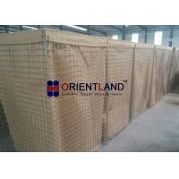 Quality High Strength Hesco Defensive Barrier Wall Olive Green Color Labor Saving Design for sale