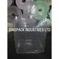 China Transparent 3mil 6mil thickness Form Fit PE big bag liner of LLDPE/LDPE on sale