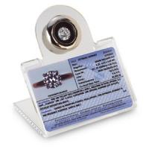 China Fashion Diamond Gemstone Slanted Acrylic Display  Box W/ Reader Traveling Storage on sale