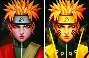Quality NARUTO Three Dimension Lenticular Anime Poster Matte Lamination for sale
