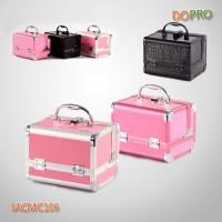 Small size easy carry solid color travel cosmetic case with mirror (SACMC106)