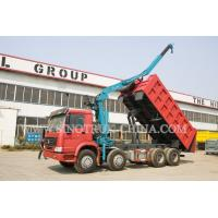 Quality LHD 371HP 8×4 Tipper Truck Mounted Crane XCMG12 Tons For Traffic Accidents for sale