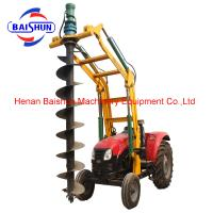 Quality Professional tractor crane pole erection machine pole post cum auger machine for sale for sale