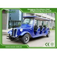Quality Elegant Blue Electric Classic Cars 6 Seater Electric Vintage Car for sale