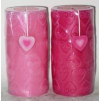 Best Fragranced wedding decorations candles with heart carving wholesale