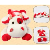 Quality Lying Pose RedBull Red Cow Milka Cow Plush Toys for sale