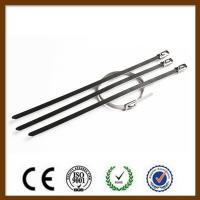 Buy Double Loop Self Locking Stainless Steel Cable Ties Non Flammable Corrosion at wholesale prices