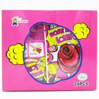 Quality Funny lollipop Rose Shaped Lollipops With Fluorescence Stick And Poping Candy/Multi fruit flavor for sale