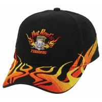 Buy cheap HEAVY BRUSHED COTTON BASEBALL CAP WITH LIQUID CHROME METAL FLAME PEAK from wholesalers