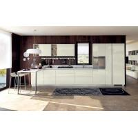 China White glass paint door panels, cabinets, open and easy-to-clean kitchen waterproof panels on sale