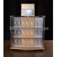 China Acrylic Wooden Display Racks 2 - Sided Revolving Countertop Watch Display Showcase on sale