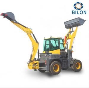 Quality 60-120HP Diesel Excavator Backhoe Loader Multi - Purpose 4 Wheel Drive for sale