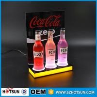 Best high quality acrylic table top led lighting liquor bottle display wholesale