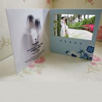 China A4 A5 LCD Video Business cards , Full colors USB video message card on sale