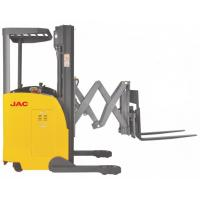 Buy Electric Seated Reach Truck Forklift 1.5 Ton Load Capacity With Double Scissor at wholesale prices