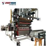 Quality LVT Online EIR SPC Flooring Machine Red Blue Sheet Width 980-1280 Mm for sale