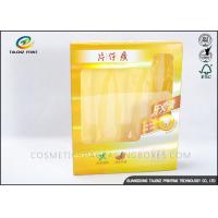 Quality Recyclable Art Paper Medicine Packaging Box With Yellow PVC Window Displaying for sale
