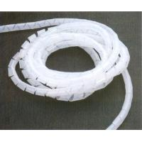 Quality Flexible white PE / Nylon customized spiral wire wrapping band wrap band plastic for sale