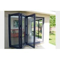 Buy Commercial system double glass aluminum bi folding door at wholesale prices