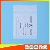 Quality Dust Proof Transparent Zip Lock Bag For Pill Packaging , Disposable Pill Pouches for sale