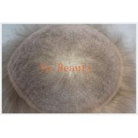 China Grey hair toupee, invisible knot very natural hair line swiss lace ,french  toupee on sale
