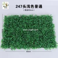 Best UVG 60*40cm fake outdoor plants artificial boxwood mat for green wall decoration GRS10 wholesale