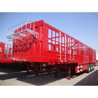 Quality 3 Axle CIMC Side Fence Cargo Transport Semi Tractor Trailer for Africa Market for sale
